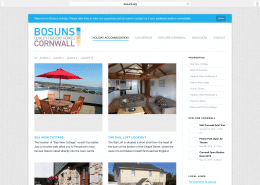 Holiday let website, logo and SEO for Penzance based Bosuns