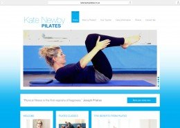 Website design for Penzance based Kate Newby Pilates | t2design