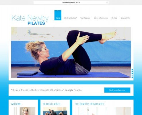 Website design for Penzance based Kate Newby Pilates   t2design