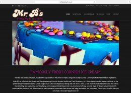 Website build and design by t2design for Mr B's Ice Cream Hayle Cornwall