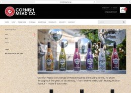Website design and build for Cornish Mead company Penzance | t2design