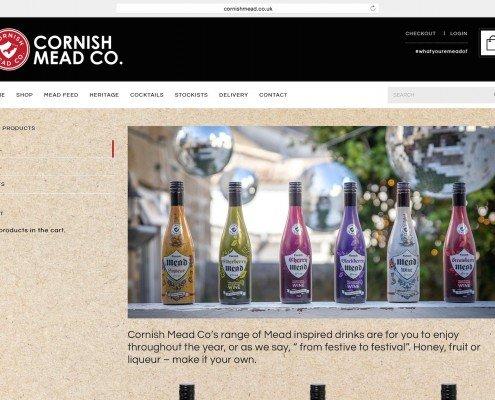 Website design and build for Cornish Mead company Penzance   t2design