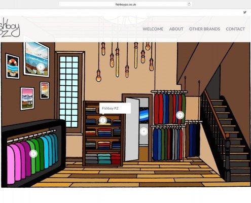 Fishboy Penzance Web Online Shop Design and Build   t2design