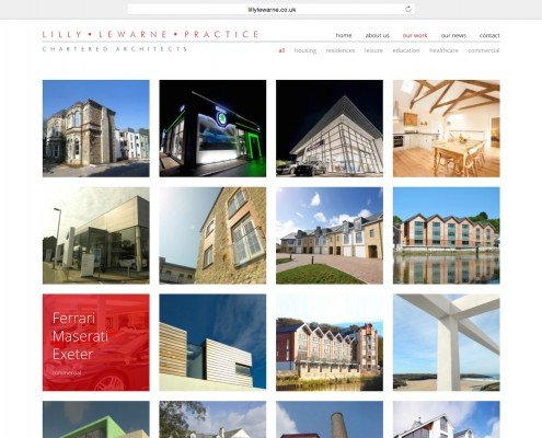 Website design for Truro based Lilly Lewarn Practice